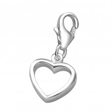 Heart - 925 Sterling Silver Charms with lobster A4S921
