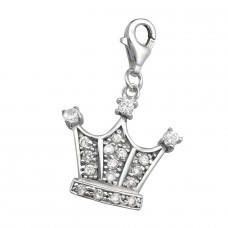 Crown - 925 Sterling Silver Charms with lobster A4S931