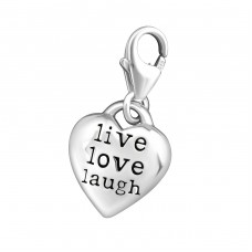 Heart - 925 Sterling Silver Charms with lobster A4S9846