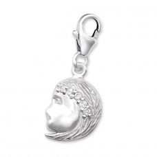 Virgo Zodiac Sign - 925 Sterling Silver Charms with lobster A4S9914