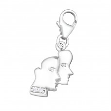 Gemini Zodiac Sign - 925 Sterling Silver Charms with lobster A4S9915