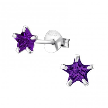 Star 5mm - 925 Sterling Silver Basic Ear Studs A4S1014