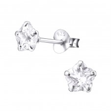 Flower 5mm - 925 Sterling Silver Basic Ear Studs A4S1022