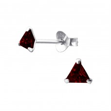 Triangle 4mm - 925 Sterling Silver Basic Ear Studs A4S1027