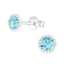 Round 5mm - 925 Sterling Silver Basic Ear Studs A4S11490