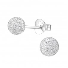 Ball 5mm - 925 Sterling Silver Basic Ear Studs A4S1298