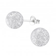 Ball 8mm - 925 Sterling Silver Basic Ear Studs A4S1299