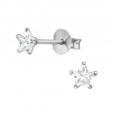 Star 4mm - 925 Sterling Silver Basic Ear Studs A4S13342