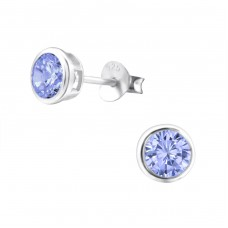 Round 5mm - 925 Sterling Silver Basic Ear Studs A4S15123