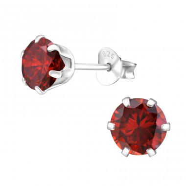 Round 6mm - 925 Sterling Silver Basic Ear Studs A4S15522