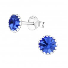 Round 6mm - 925 Sterling Silver Basic Ear Studs A4S1668