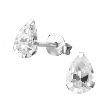 Pear 5X7Mm - 925 Sterling Silver Basic Ear Studs A4S17035