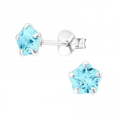 Flower 6mm - 925 Sterling Silver Basic Ear Studs A4S17550