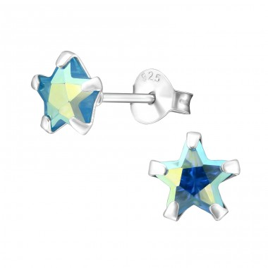 Star 6mm - 925 Sterling Silver Basic Ear Studs A4S17551