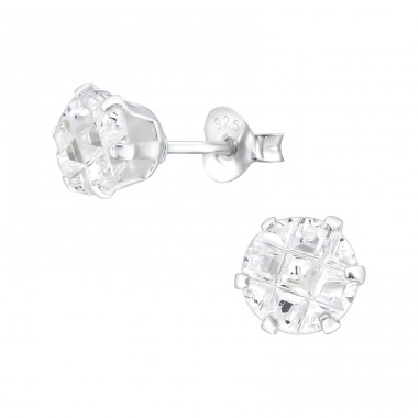 Round 6mm - 925 Sterling Silver Basic Ear Studs A4S17554