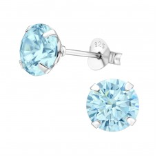 Round 7mm - 925 Sterling Silver Basic Ear Studs A4S17976