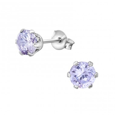 Round 6mm - 925 Sterling Silver Basic Ear Studs A4S18335