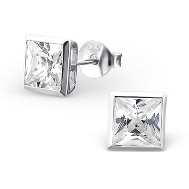 Square 5mm - 925 Sterling Silver Basic Ear Studs A4S18400