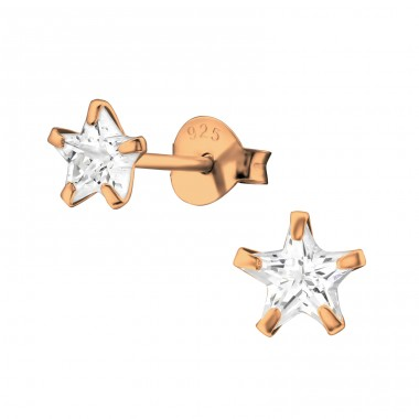 Star 5mm - 925 Sterling Silver Basic Ear Studs A4S19360