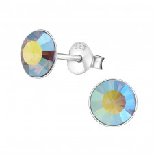 Round 6mm - 925 Sterling Silver Basic Ear Studs A4S1987