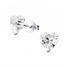 Heart 6mm - 925 Sterling Silver Basic Ear Studs A4S20576