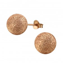 Ball 10mm - 925 Sterling Silver Basic Ear Studs A4S21354