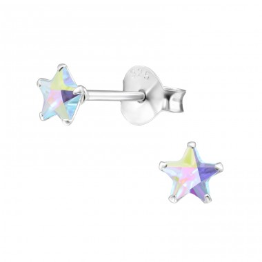 Star 4mm - 925 Sterling Silver Basic Ear Studs A4S23844
