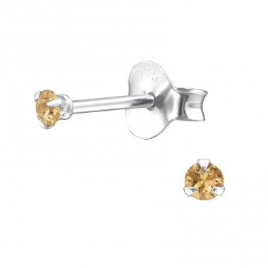 Round - 925 Sterling Silver Basic Ear Studs A4S27194