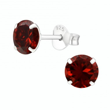 Round 6mm - 925 Sterling Silver Basic Ear Studs A4S33206