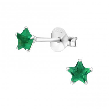 Star 4mm - 925 Sterling Silver Basic Ear Studs A4S33209