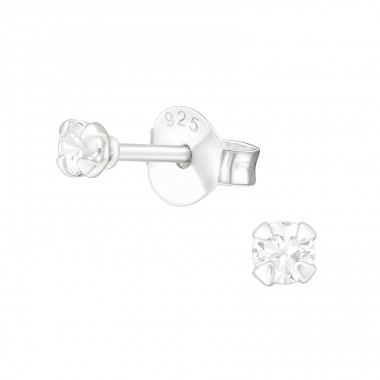 Round 2.5Mm - 925 Sterling Silver Basic Ear Studs A4S35416