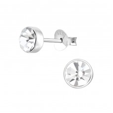 Round 5mm - 925 Sterling Silver Basic Ear Studs A4S36267