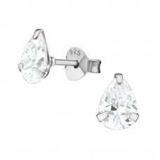 Pear - 925 Sterling Silver Basic Ear Studs A4S39065