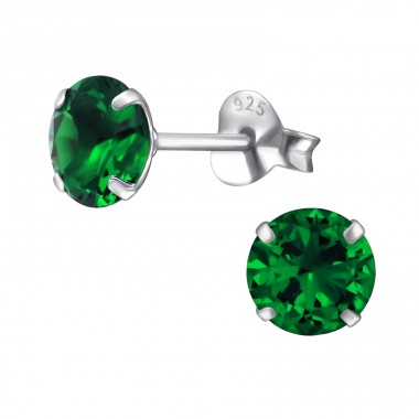 Round - 925 Sterling Silver Basic Ear Studs A4S39408