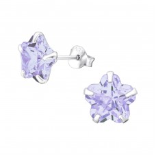 Star 8mm - 925 Sterling Silver Basic Ear Studs A4S4446