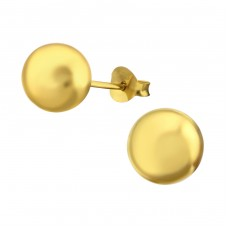 Ball 8mm - 925 Sterling Silver Basic Ear Studs A4S7987