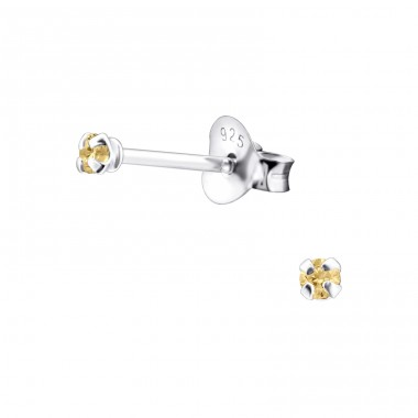 Round 2mm - 925 Sterling Silver Basic Ear Studs A4S9469