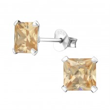 Square 6mm - 925 Sterling Silver Basic Ear Studs A4S992