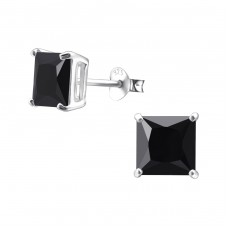 Square 7mm - 925 Sterling Silver Basic Ear Studs A4S995
