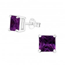 Square 6mm - 925 Sterling Silver Basic Ear Studs A4S996