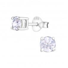 Round 5mm - 925 Sterling Silver Basic Ear Studs A4S998