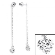 Link - 925 Sterling Silver Ear Studs with Crystal stones A4S16793