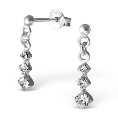 Link - 925 Sterling Silver Ear Studs with Crystal stones A4S17535