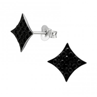 Sparkling - 925 Sterling Silver Ear Studs with Crystal stones A4S39518