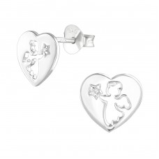 Angel - 925 Sterling Silver Ear Studs with Zirconia stones A4S36786