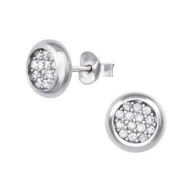 Sparkling - 925 Sterling Silver Ear Studs with Zirconia stones A4S39053
