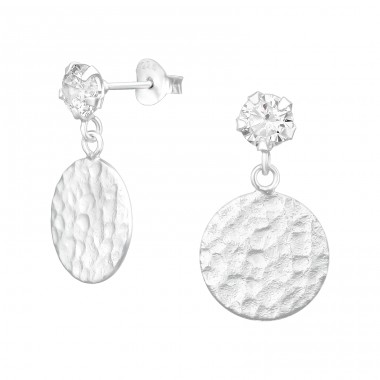 Round - 925 Sterling Silver Ear Studs with Zirconia stones A4S39987