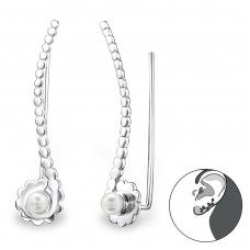 Long - 925 Sterling Silver Ear Cuffs and Ear pins A4S24568