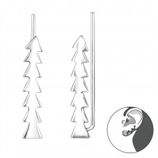 Triangles - 925 Sterling Silver Ear Cuffs and Ear pins A4S24569