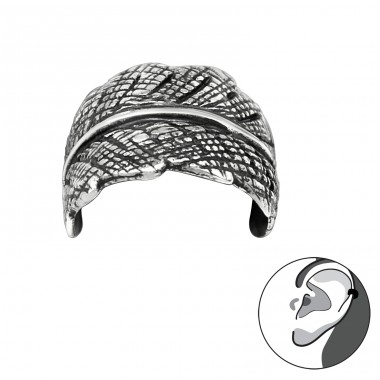 Leaf - 925 Sterling Silver Ear Cuffs and Ear pins A4S28132